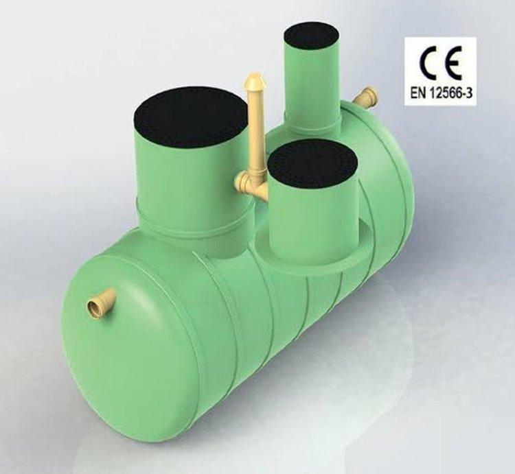EcoTankin BioC6 ja BioC10 Biopuhdistamot käsittelevät WC- ja harmaat vedet. Näihin voidaan laskea kaikki kotitalouksista tulevat jätevedet niin yksiputkijärjestelmistä kuin kaksiputkijärjestelmistä. Kuvassa BioC6.