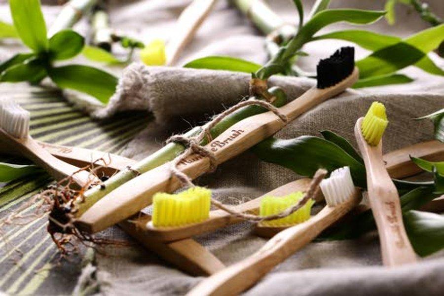 Humble Brush bambuhammasharjan varsi on valmistettu 100% biohajoavasta bambusta. Harjakset on tehty DuPont™ 6-nylonista. Hammasharjan varren voi kompostoida. Harjakset voi poistaa ja hävittää ne talousjätteen mukana.